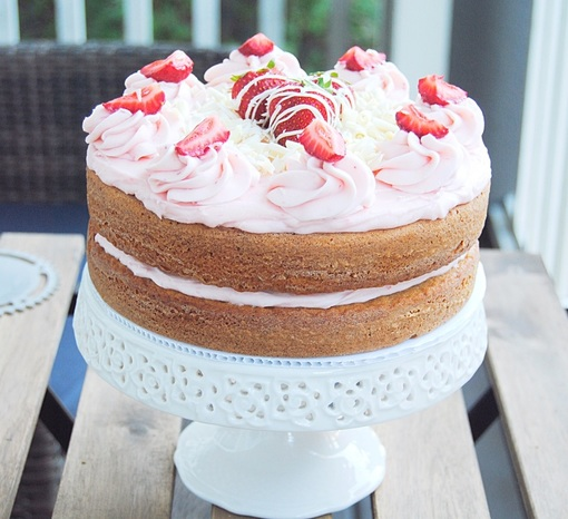 Nothin But Strawberry Layer Cake The Sweet And Simple