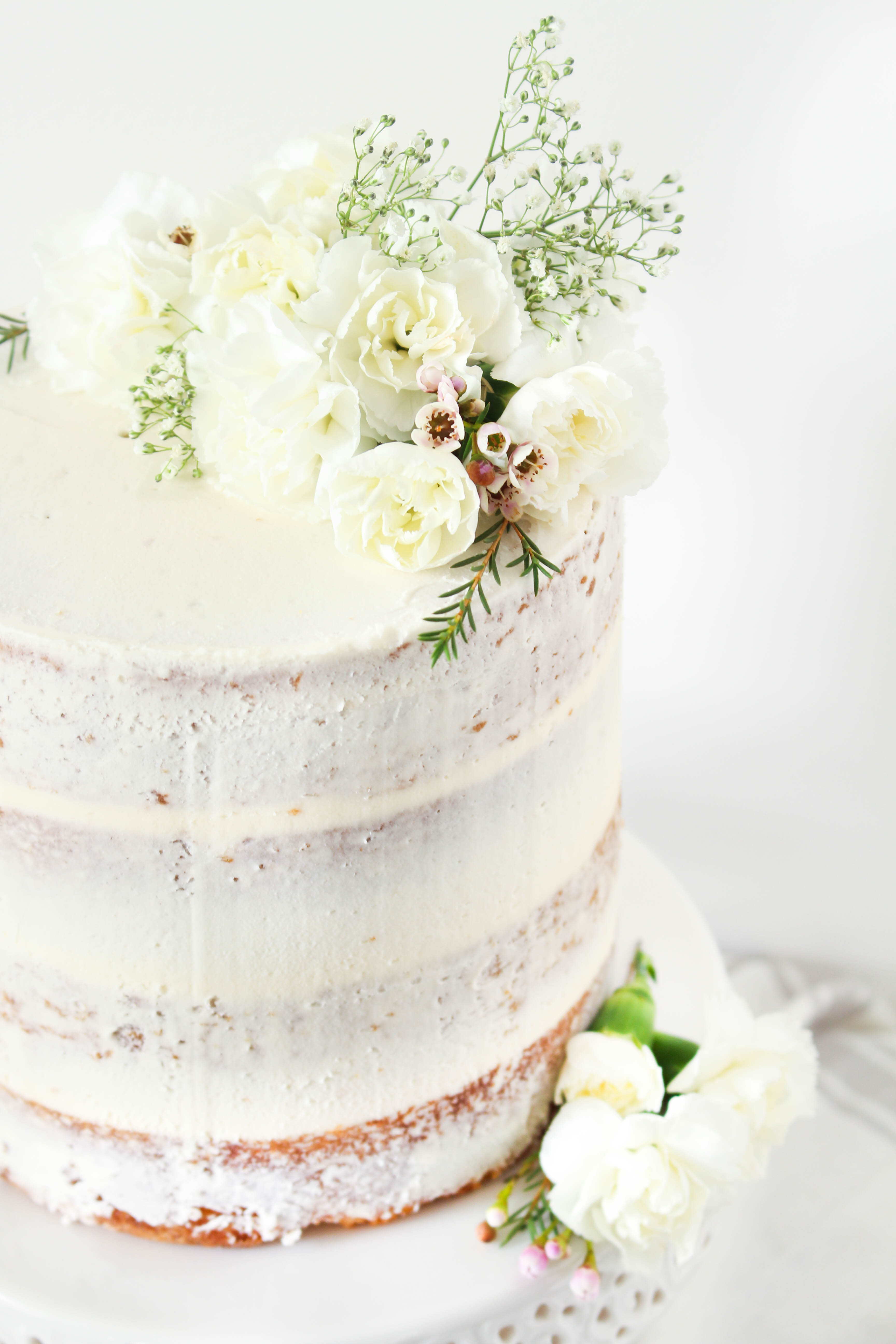 Simple Naked Layer Cake - The Sweet and Simple Kitchen