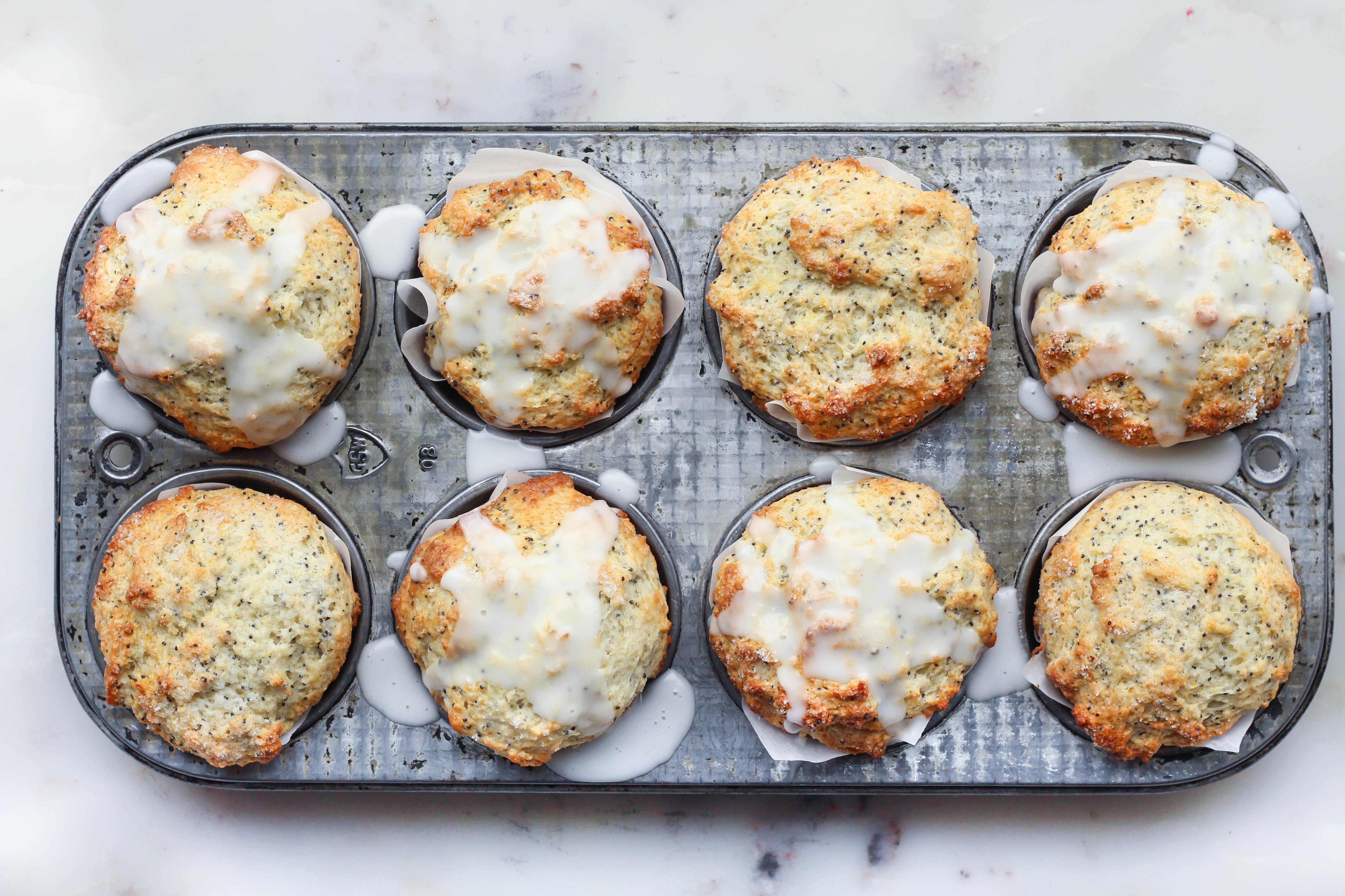 Buttermilk Lemon Poppy Seed Muffins - The Sweet and Simple Kitchen