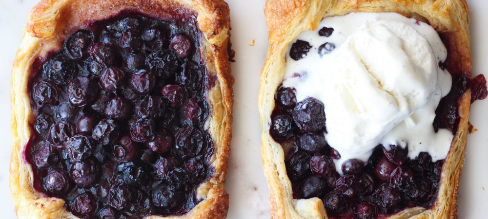 Blueberries and Cream Pastry Puffs