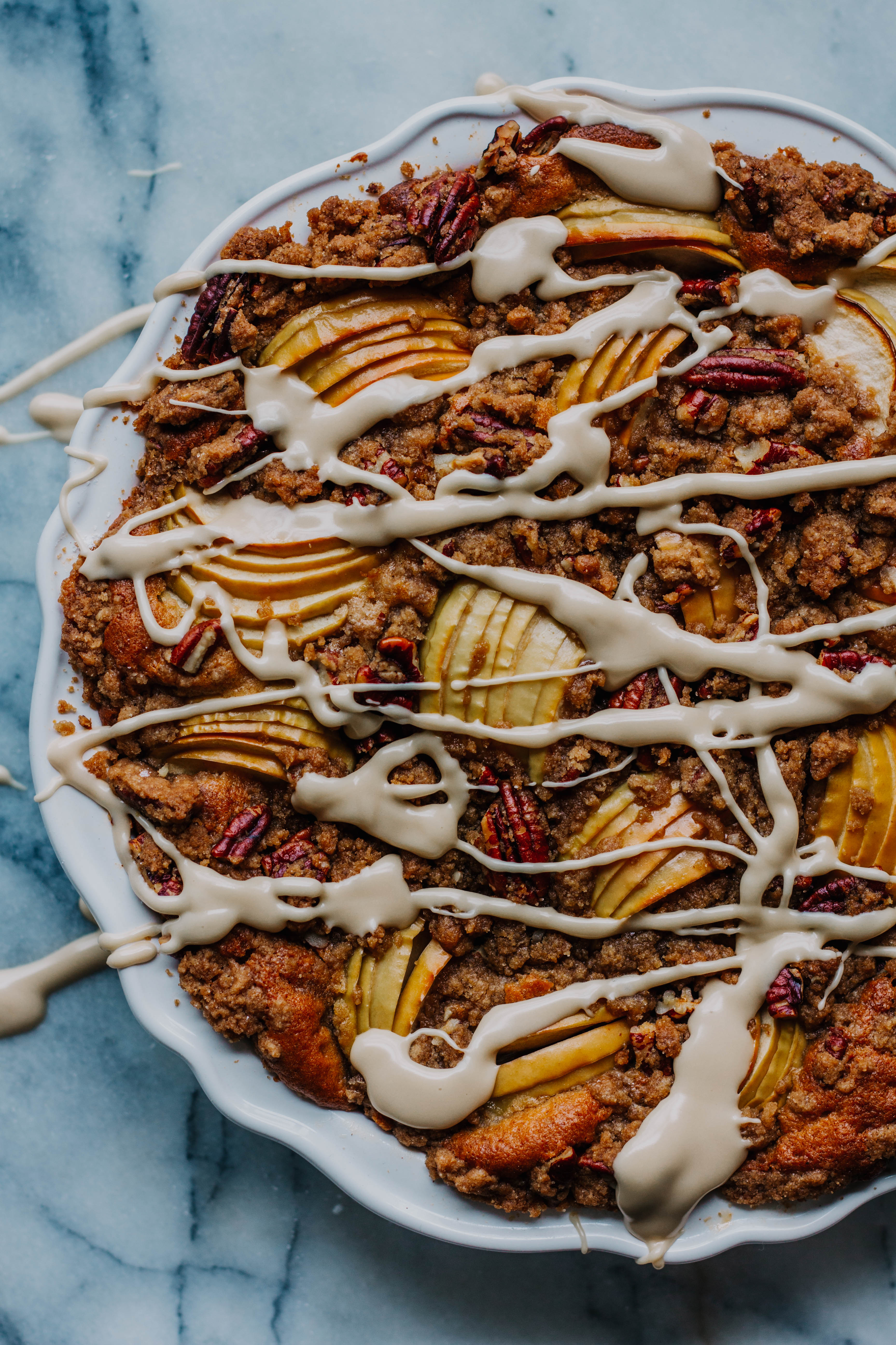 Brown Sugar Spiced Apple And Pecan Crumb Cake The Sweet And Simple