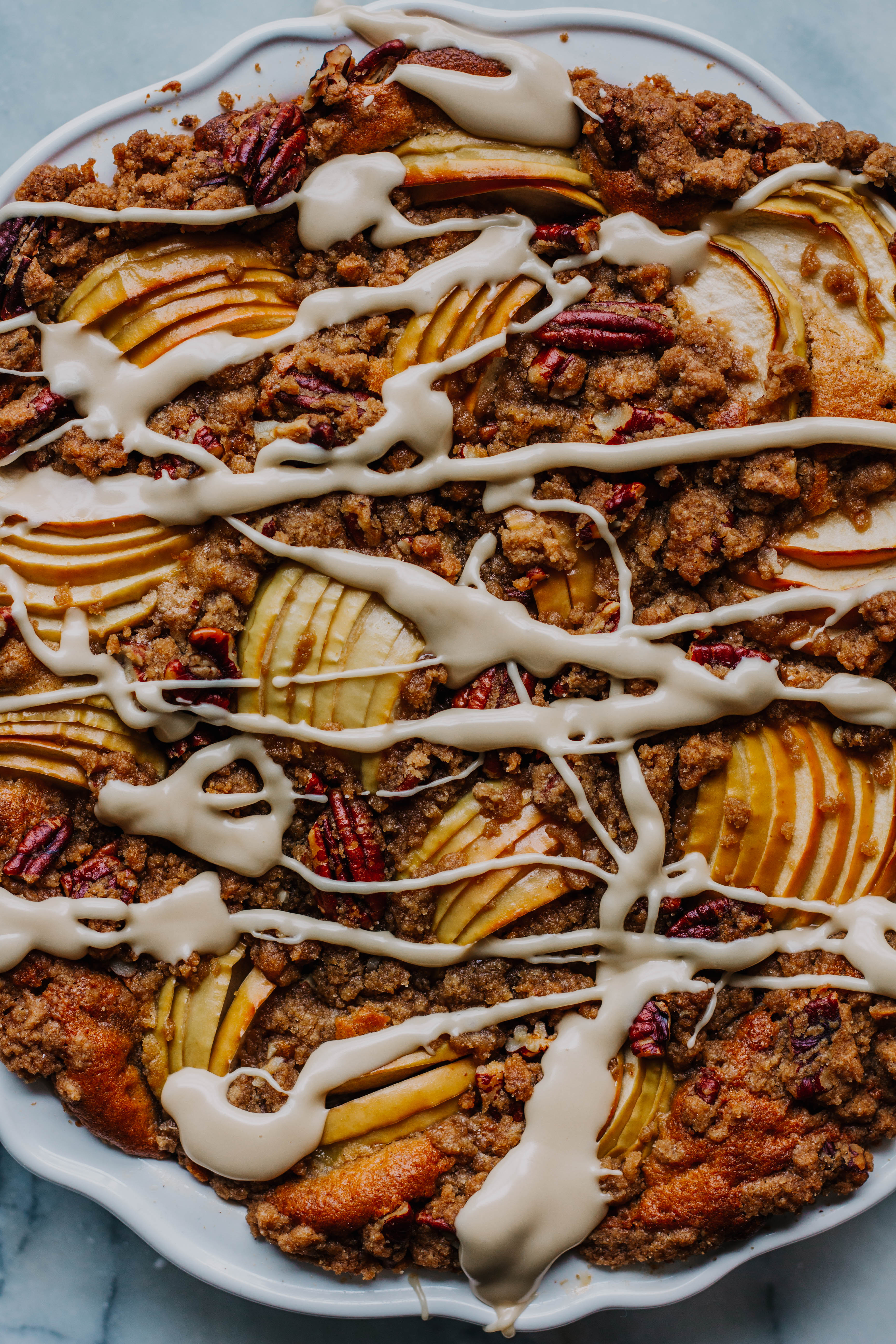 Apple Cinnamon And Pecan Tea Cake